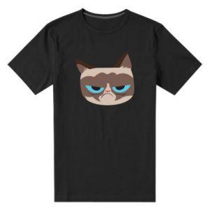 Men's premium t-shirt Very dissatisfied cat - PrintSalon