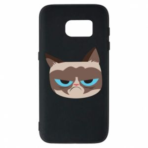 Phone case for Samsung S7 Very dissatisfied cat - PrintSalon