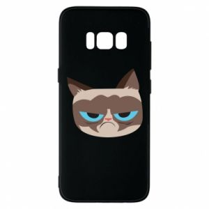 Phone case for Samsung S8 Very dissatisfied cat - PrintSalon