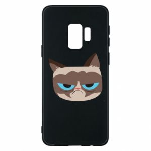 Phone case for Samsung S9 Very dissatisfied cat - PrintSalon