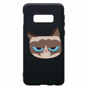 Phone case for Samsung S10e Very dissatisfied cat - PrintSalon