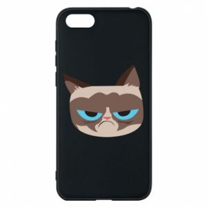 Phone case for Huawei Y5 2018 Very dissatisfied cat - PrintSalon