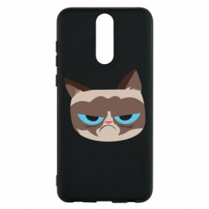 Phone case for Huawei Mate 10 Lite Very dissatisfied cat - PrintSalon