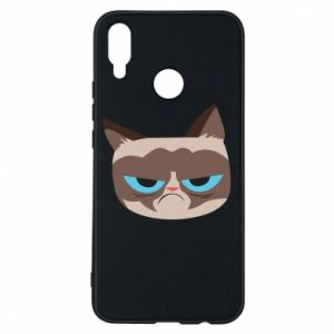 Phone case for Huawei P Smart Plus Very dissatisfied cat - PrintSalon