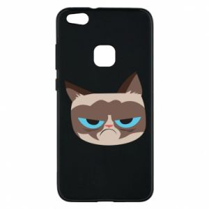 Phone case for Huawei P10 Lite Very dissatisfied cat - PrintSalon