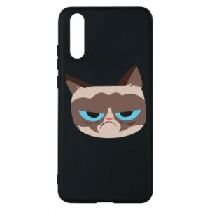 Phone case for Huawei P20 Very dissatisfied cat - PrintSalon