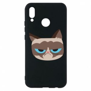 Phone case for Huawei P20 Lite Very dissatisfied cat - PrintSalon