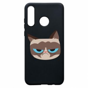 Phone case for Huawei P30 Lite Very dissatisfied cat - PrintSalon