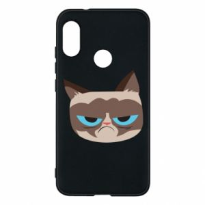 Phone case for Mi A2 Lite Very dissatisfied cat - PrintSalon