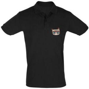 Men's Polo shirt Very dissatisfied cat - PrintSalon