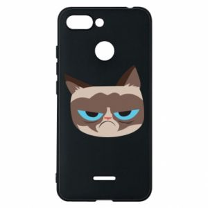 Phone case for Xiaomi Redmi 6 Very dissatisfied cat