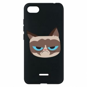 Phone case for Xiaomi Redmi 6A Very dissatisfied cat - PrintSalon