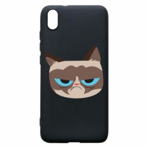 Phone case for Xiaomi Redmi 7A Very dissatisfied cat - PrintSalon