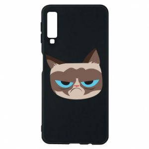 Phone case for Samsung A7 2018 Very dissatisfied cat - PrintSalon