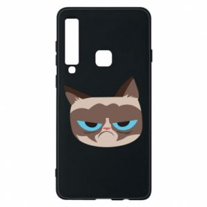 Phone case for Samsung A9 2018 Very dissatisfied cat - PrintSalon