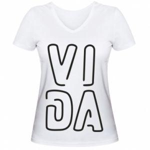 Damska koszulka V-neck Vida