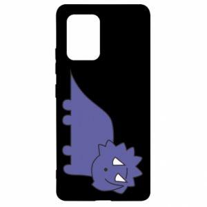 Etui na Samsung S10 Lite Violet dino