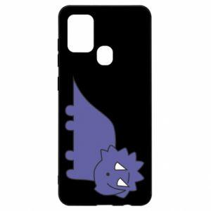 Etui na Samsung A21s Violet dino