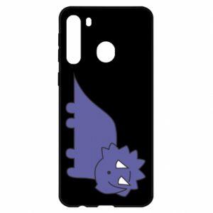 Etui na Samsung A21 Violet dino
