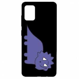 Etui na Samsung A51 Violet dino