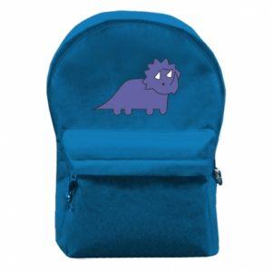 Plecak z przednią kieszenią Violet dino