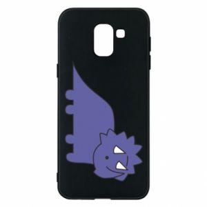 Etui na Samsung J6 Violet dino
