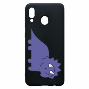 Etui na Samsung A20 Violet dino