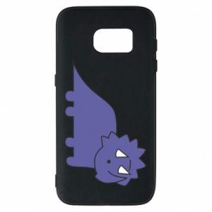 Etui na Samsung S7 Violet dino