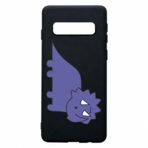 Etui na Samsung S10 Violet dino
