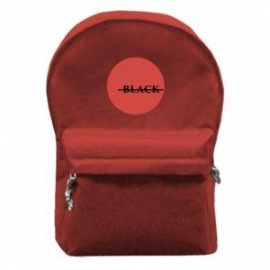Backpack with front pocket Вlack