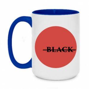Two-toned mug 450ml Вlack