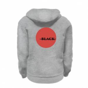 Kid's zipped hoodie % print% Вlack