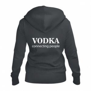 Women's zip up hoodies Vodka connecting people - PrintSalon