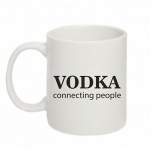 Mug 330ml Vodka connecting people - PrintSalon