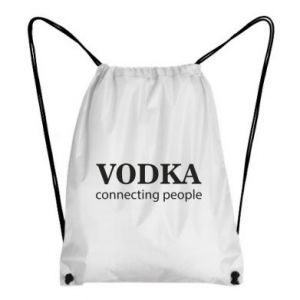 Plecak-worek Vodka connecting people