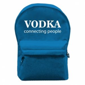 Backpack with front pocket Vodka connecting people - PrintSalon
