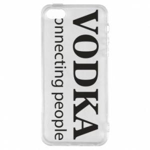 Phone case for iPhone 5/5S/SE Vodka connecting people - PrintSalon