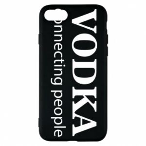 Phone case for iPhone 7 Vodka connecting people - PrintSalon
