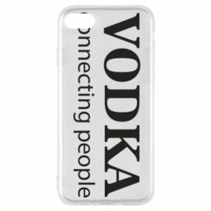 Phone case for iPhone 8 Vodka connecting people - PrintSalon