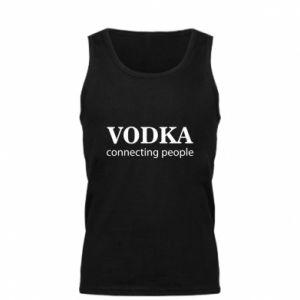 Men's t-shirt Vodka connecting people - PrintSalon
