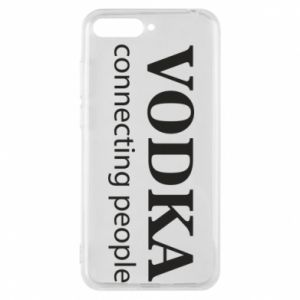 Phone case for Huawei Y6 2018 Vodka connecting people - PrintSalon