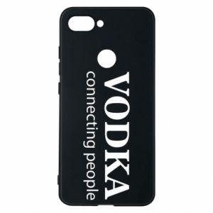 Phone case for Xiaomi Mi8 Lite Vodka connecting people - PrintSalon