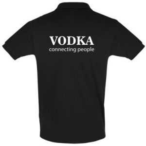 Men's Polo shirt Vodka connecting people - PrintSalon