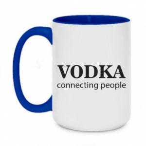 Kubek dwukolorowy 450ml Vodka connecting people