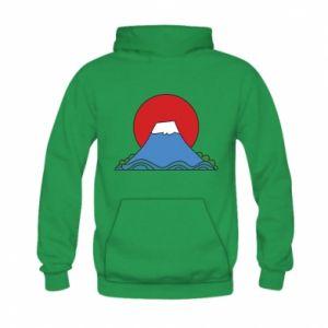 Bluza z kapturem dziecięca Volcano on sunset background