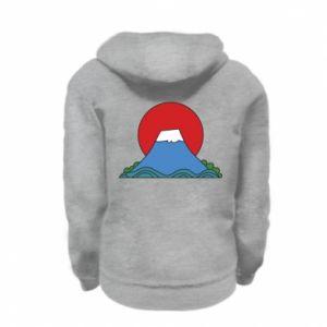 Bluza na zamek dziecięca Volcano on sunset background