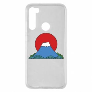 Etui na Xiaomi Redmi Note 8 Volcano on sunset background