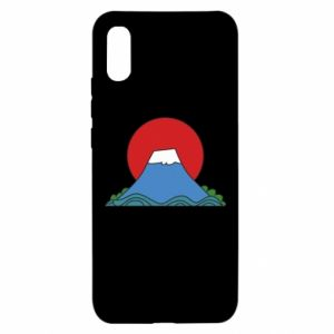 Etui na Xiaomi Redmi 9a Volcano on sunset background