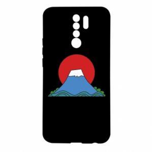 Etui na Xiaomi Redmi 9 Volcano on sunset background
