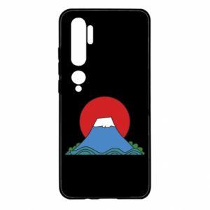Etui na Xiaomi Mi Note 10 Volcano on sunset background